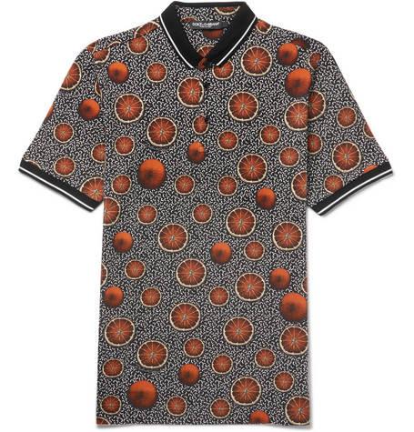 Dolce & Gabbana, Printed Cotton-Piqué Polo Shirt,      325 euros.