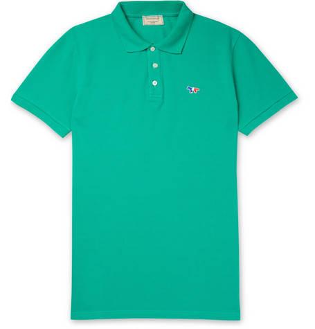 Maison Kitsuné, Cotton-Piqué Polo Shirt,     115 euros.