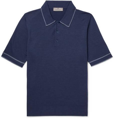 Canali, Wool Polo Shirt,       245 euros.