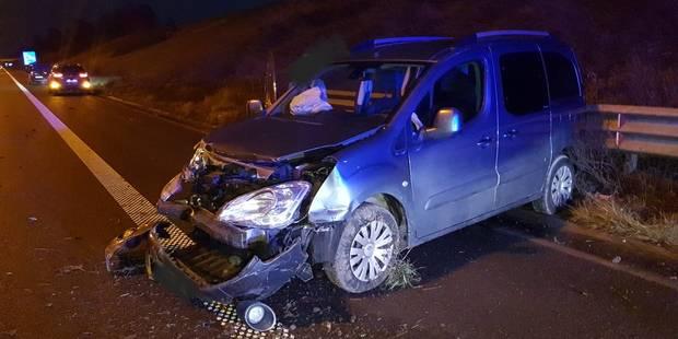 Accident sur l'E42 à Courcelles: quatre blessés légers, dont trois enfants - La DH