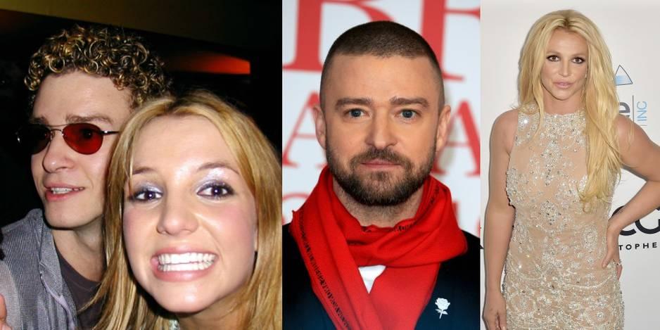 Justin Timberlake et Britney Spears lorsqu'ils étaient en couple, en 1999. Elle avait 17 ans et lui 18.