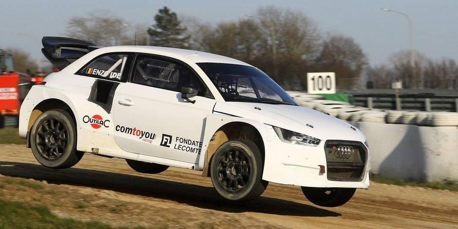 François Duval a testé l'Audi S1 EKSRX d'Enzo Ide à Mettet