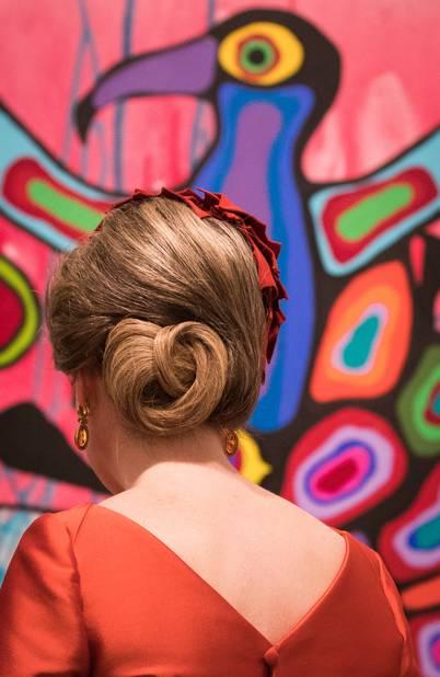 La reine Mathilde a apprécié la visite du musée d'art national du Canada.