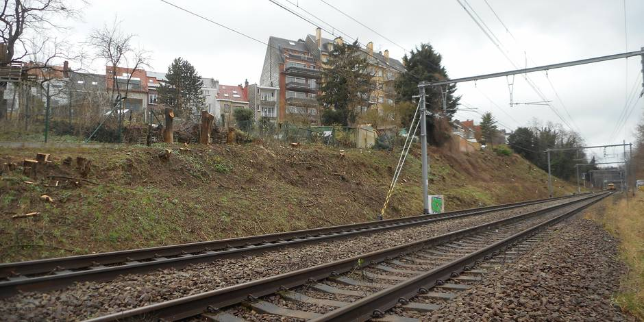 Uccle : le chantier Infrabel
