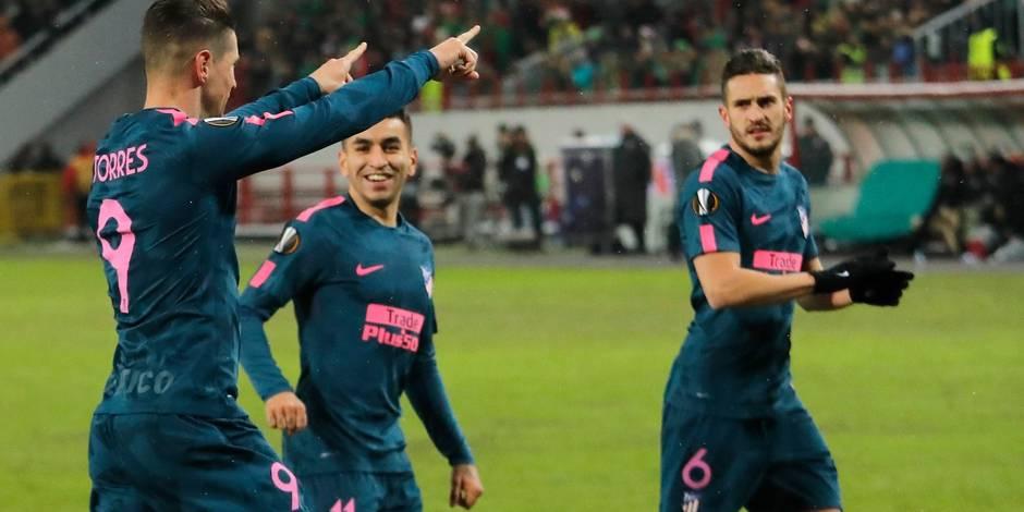 Ligue Europa. L'Atlético impressionne et passe en quart