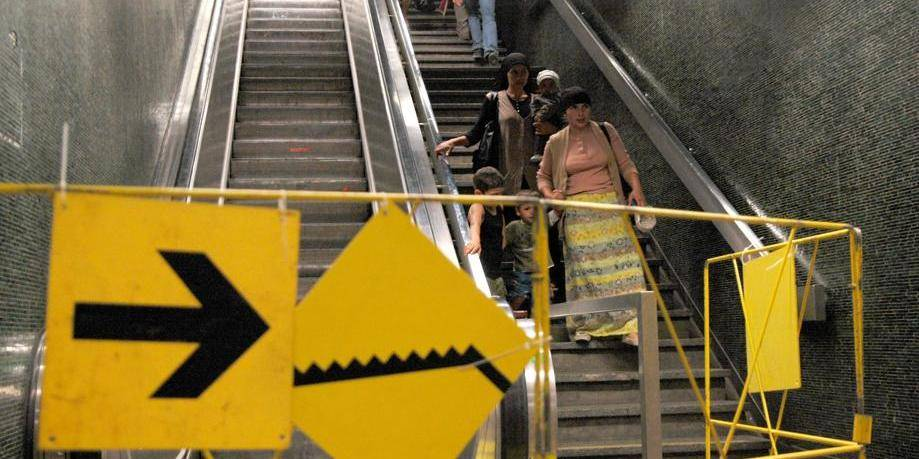 60 pannes d'escalators par jour à la Stib en 2017