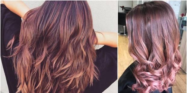 Rose brown : la nouvelle coloration qui donne du peps aux brunes - La DH