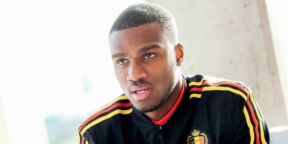 Belgium's Obbi Oulare pictured during a press moment of the U21 Red Devils, during preparations for the friendly games between the Red Devils and The Nethrlands and Hungary, in Tubize, Monday 19 March 2018. BELGA PHOTO BRUNO FAHY