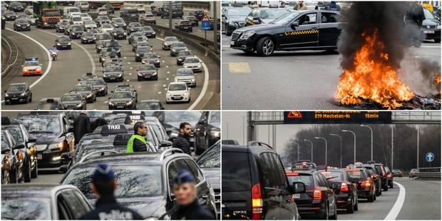 Manifestation des taxis à Bruxelles: La police a dressé 19 PV pour des chauffeurs de taxis - La DH