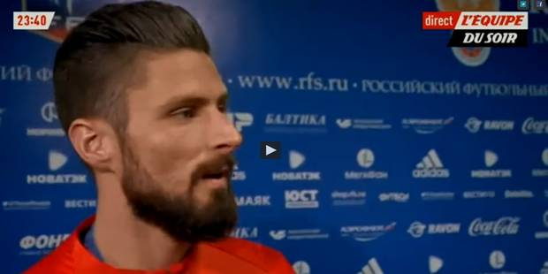 Olivier Giroud vexé par les journalistes (VIDEO) - La DH