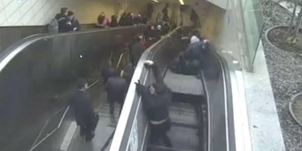 Un homme se fait engloutir par un escalator - La DH