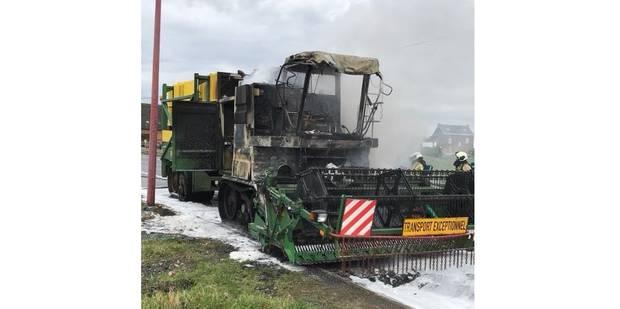 Véhicule en feu à Villers-la-Ville : la N93 rouverte à la circulation - La DH