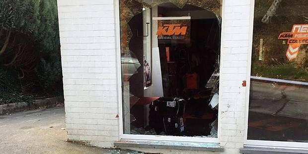 Trois magasins KTM cambriolés avec une rare violence - La DH