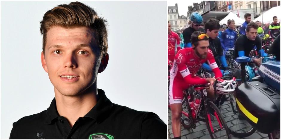 Les coureurs observent une minute de silence en mémoire à Michael Goolaers