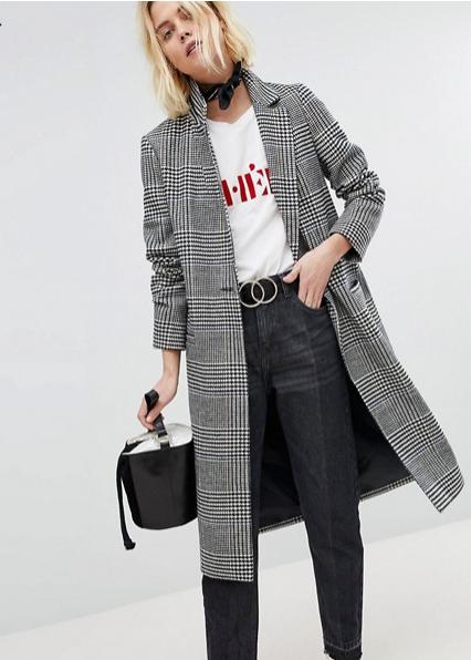 New Look. Manteaux habillé à carreaux Prince de Galles.               51,99 euros