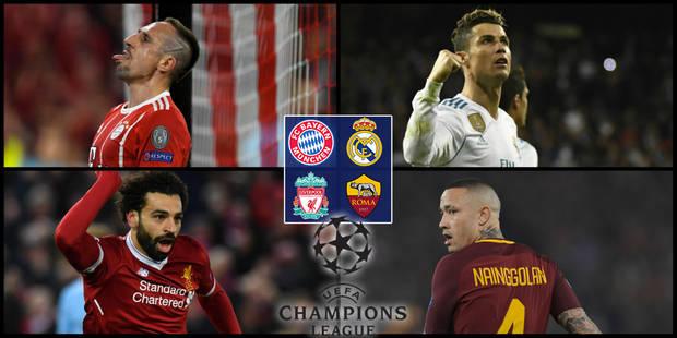 Champions League: Bayern - Real et Liverpool - Roma en 1/2 - La DH
