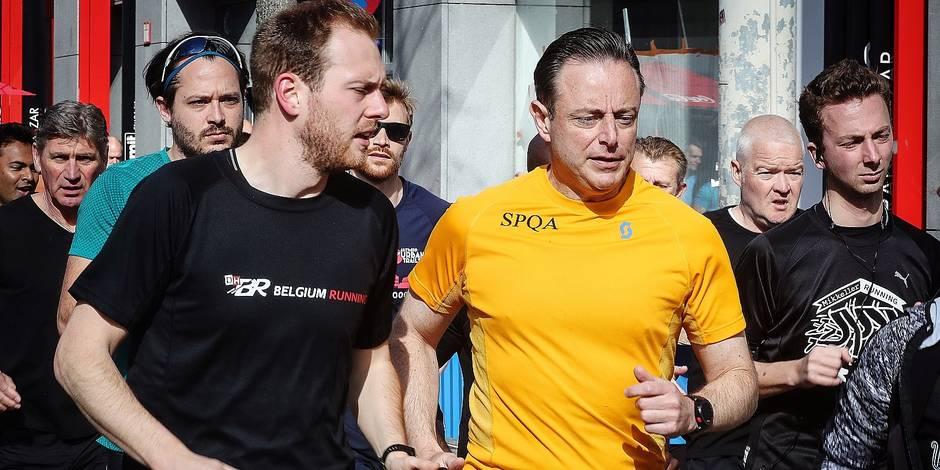Bernard Demoulin: Anvers Bart De Wever pour un sujet sur le running.