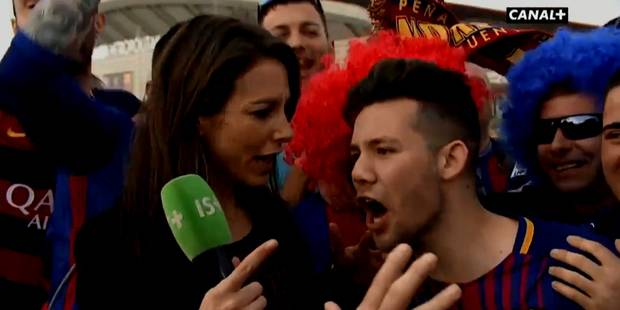 Une journaliste française ne se laisse pas démonter face à des supporters trop entreprenants (VIDEO) - La DH